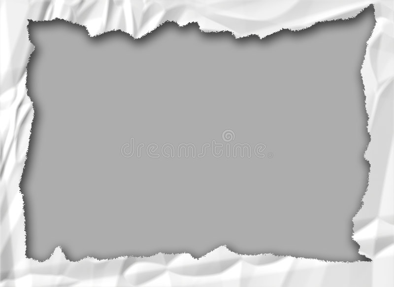 被弄皱的框架纸张 免版税库存照片