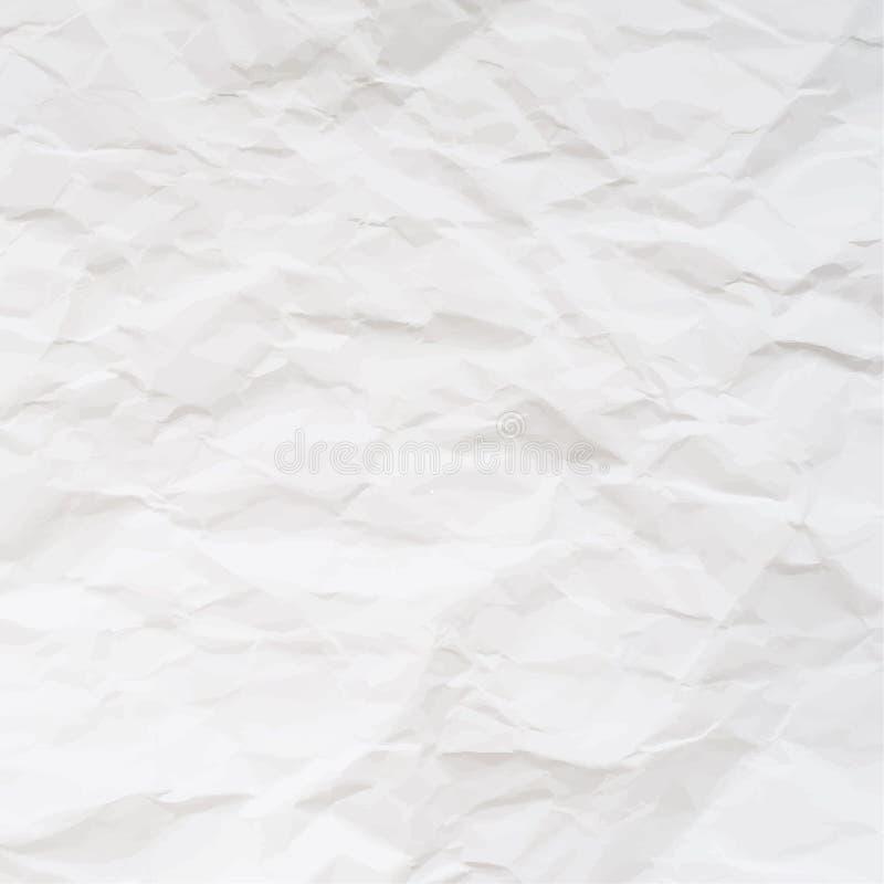 被弄皱的纸传染媒介纹理  皇族释放例证