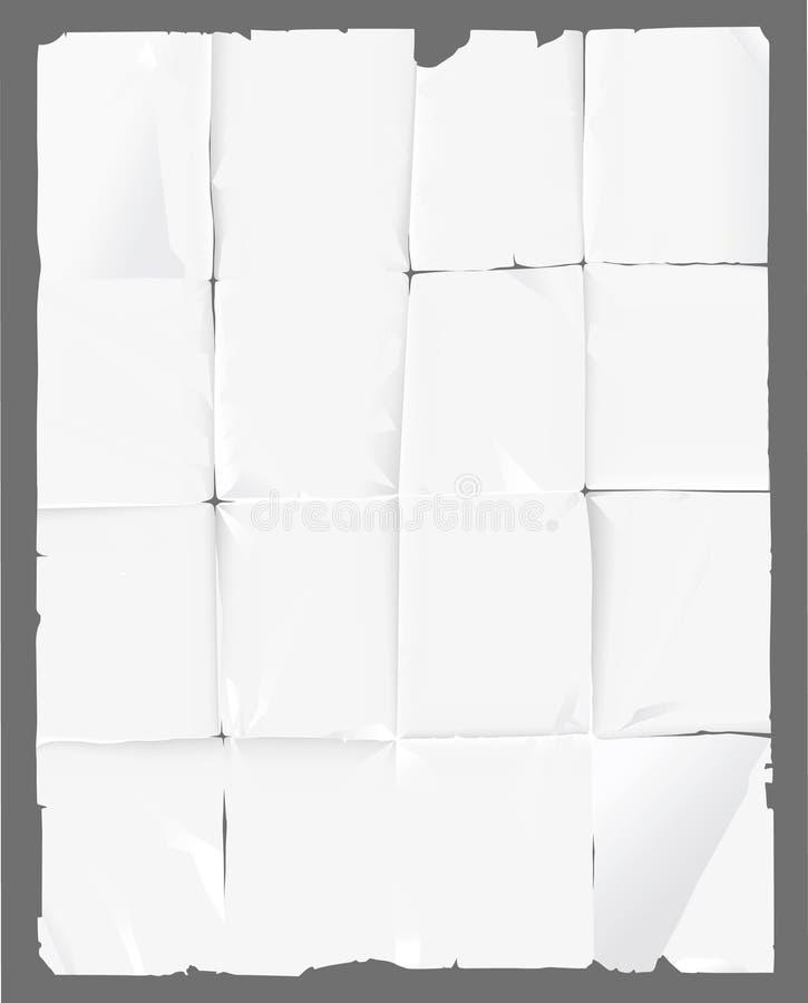 被弄皱的纸张 皇族释放例证