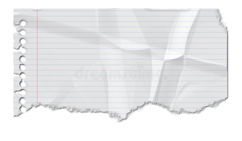 被弄皱的纸张 库存例证