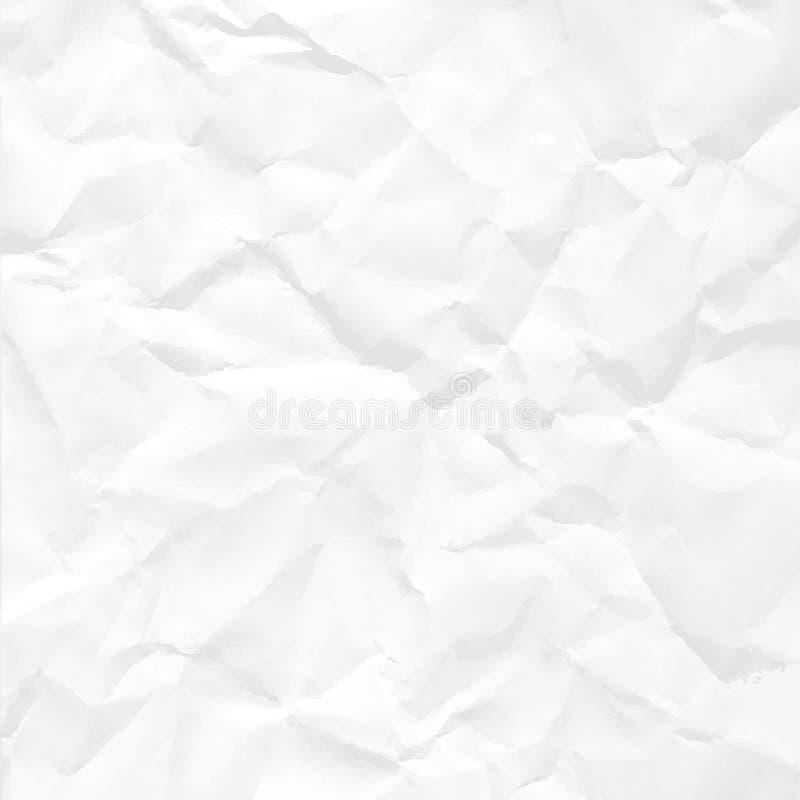 被弄皱的纸无缝的纹理 皇族释放例证