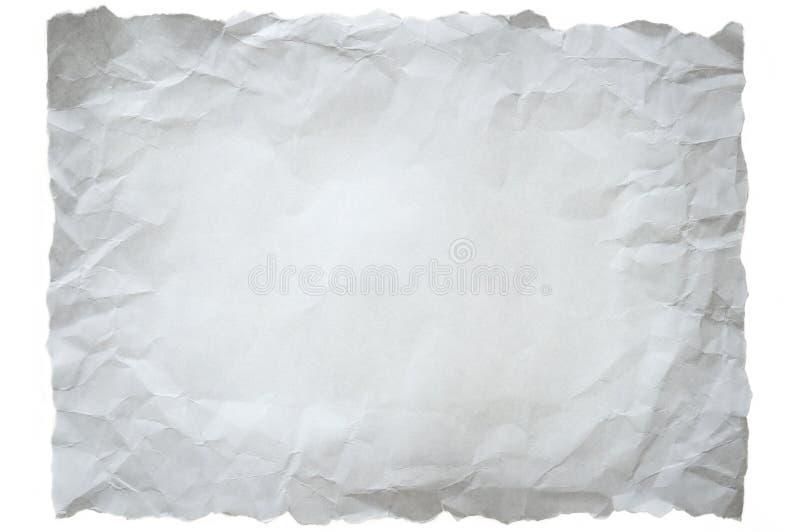 被弄皱的纸白色 图库摄影