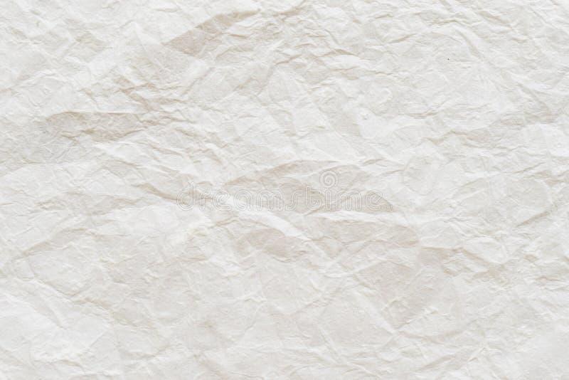 被弄皱的纸纹理背景 免版税库存图片