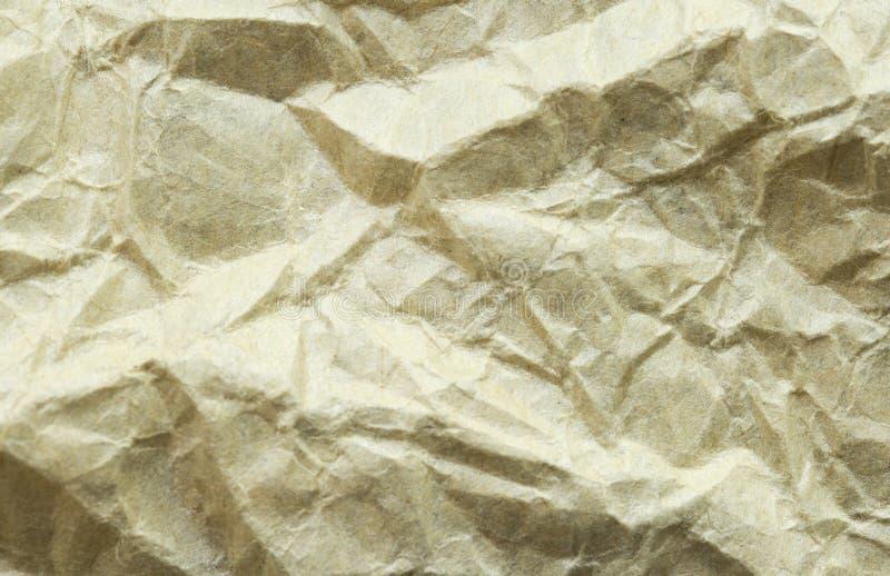 被弄皱的葡萄酒纸背景 老牛皮纸纹理或背景 库存图片