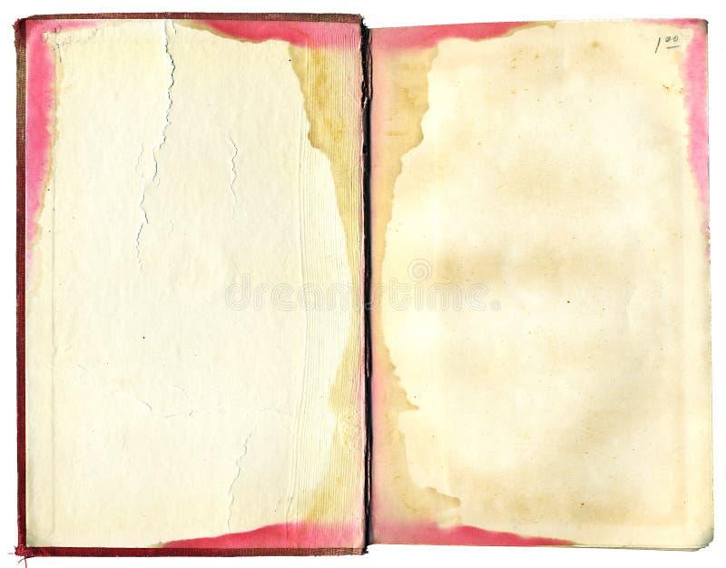 被弄脏的书开放 免版税库存图片
