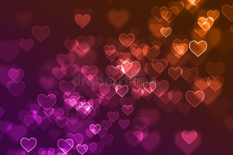 被弄脏的五颜六色的心脏签署defocused背景 图库摄影