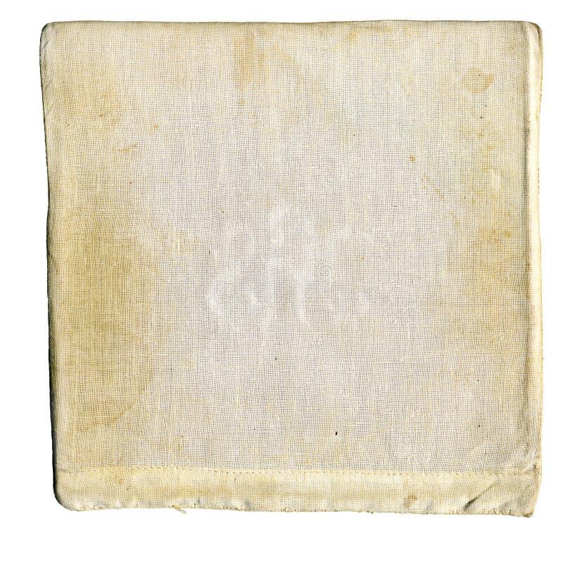 被弄脏的亚麻布 免版税库存图片