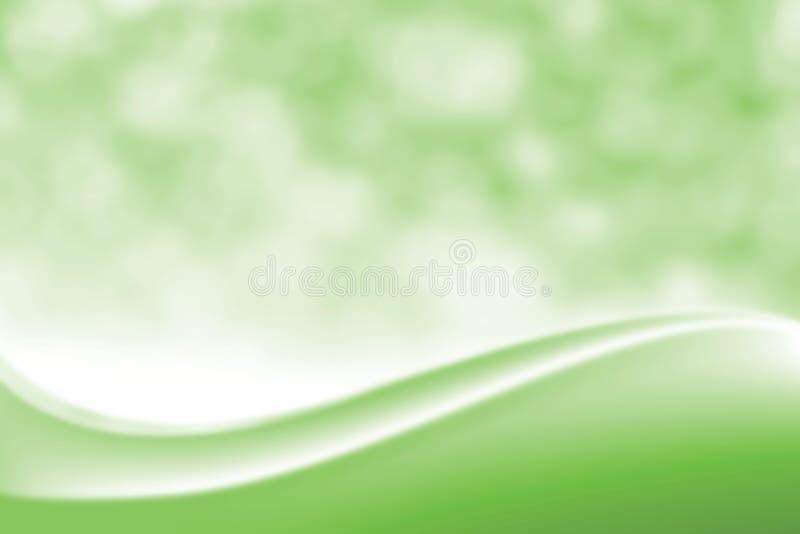 被弄脏的光滑的绿色典雅的软的秀丽背景,豪华化妆背景Bokeh柔光树荫,梯度颜色甜点 库存例证