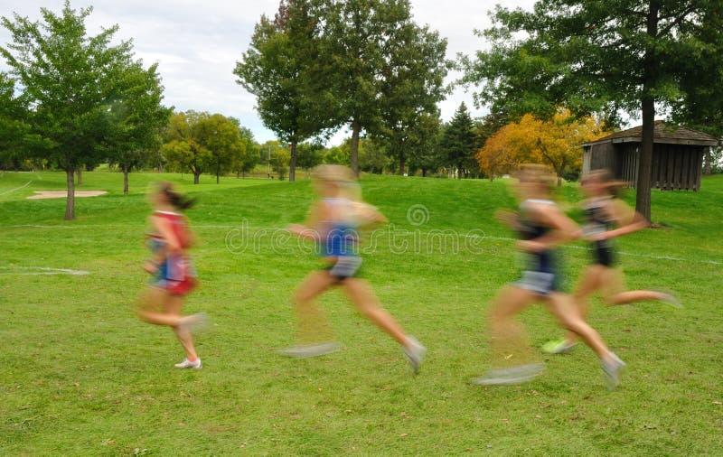 被弄脏的国家(地区)交叉女孩赛跑&# 免版税库存照片