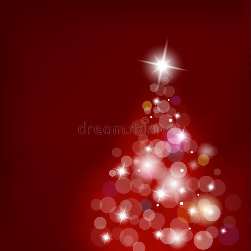 被弄脏的圣诞灯结构树 向量例证