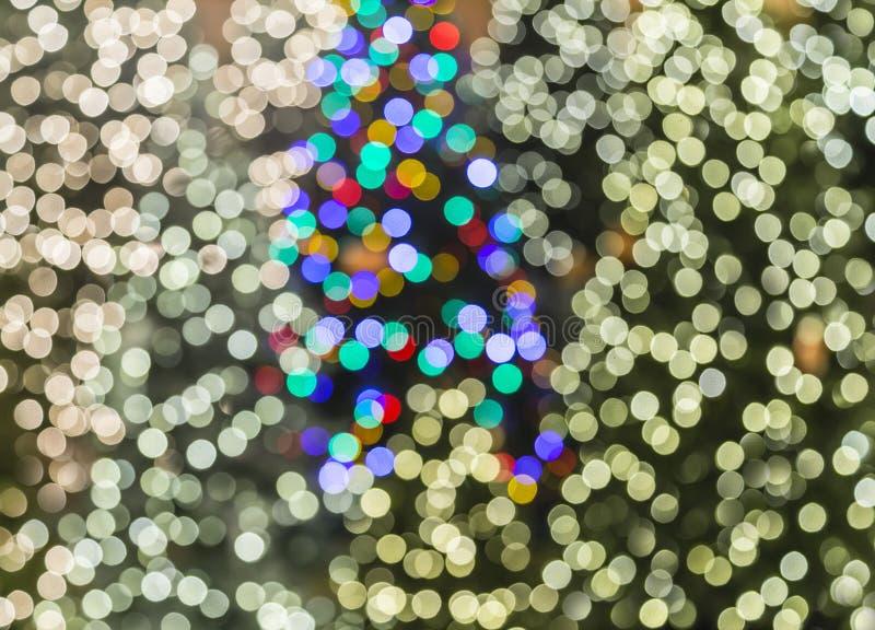 被弄脏的圣诞灯背景 库存图片