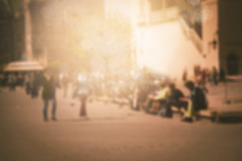 被弄脏的城市背景 免版税库存照片
