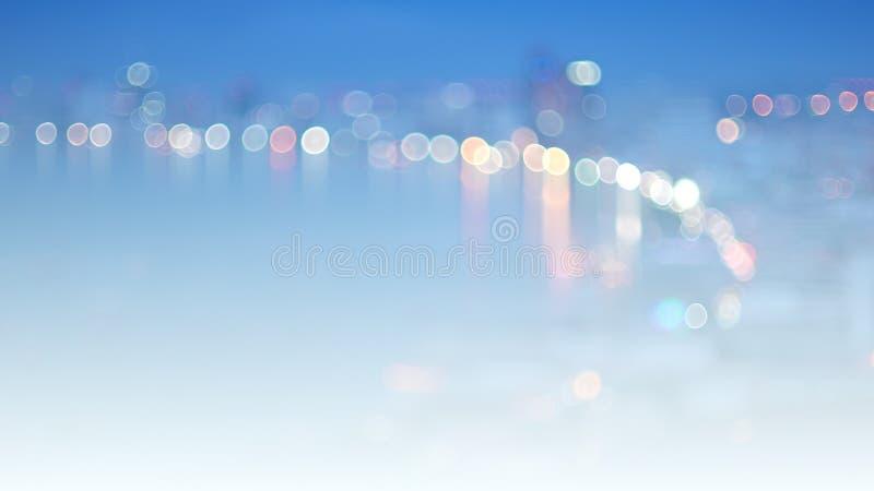 被弄脏的夜城市点燃都市背景 库存例证