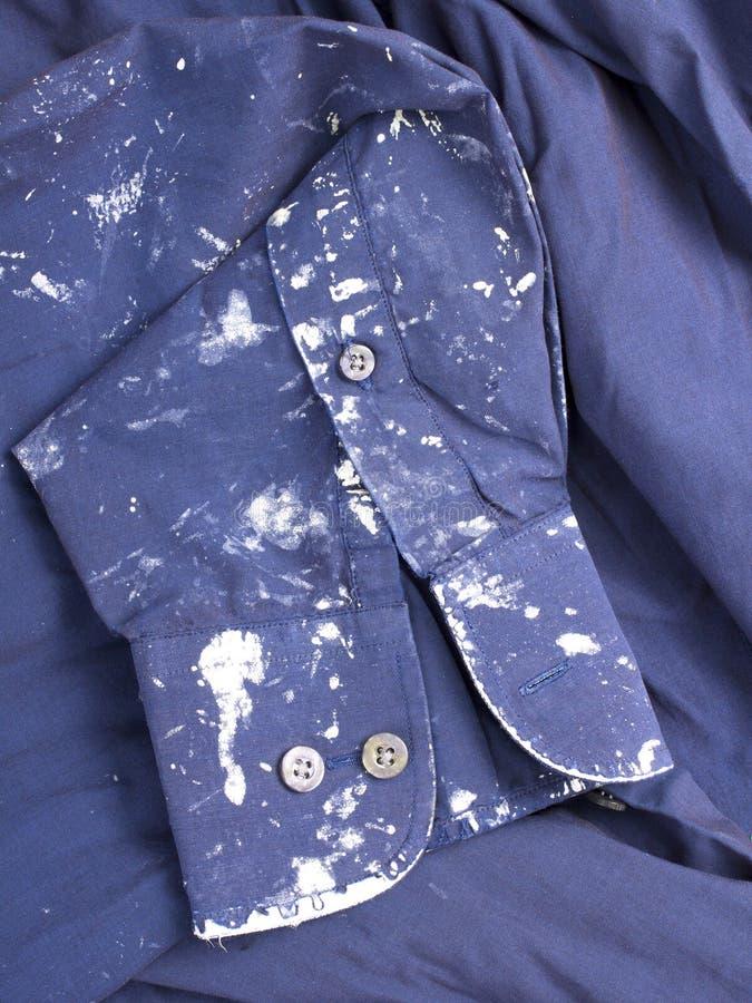 被弄脏的布料 图库摄影
