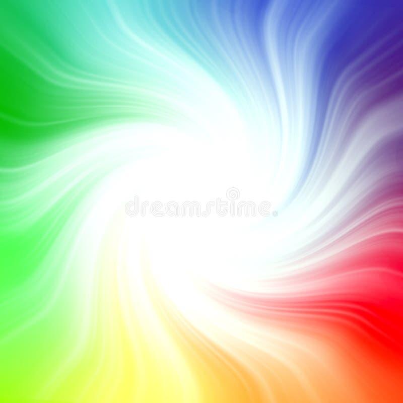 被弄脏的彩虹背景旋涡,明亮,概念,多 库存例证
