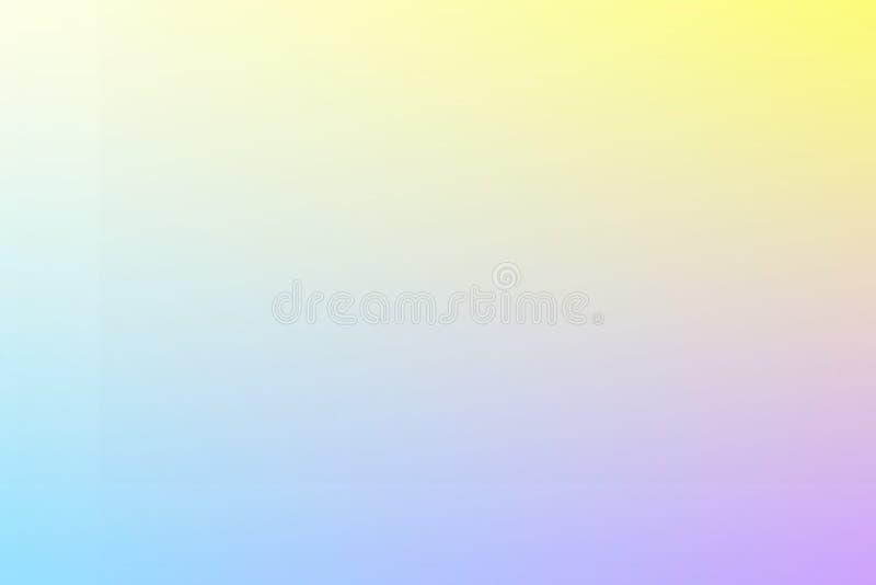 被弄脏的抽象背景 软绵绵地紫色和黄色背景 向量例证