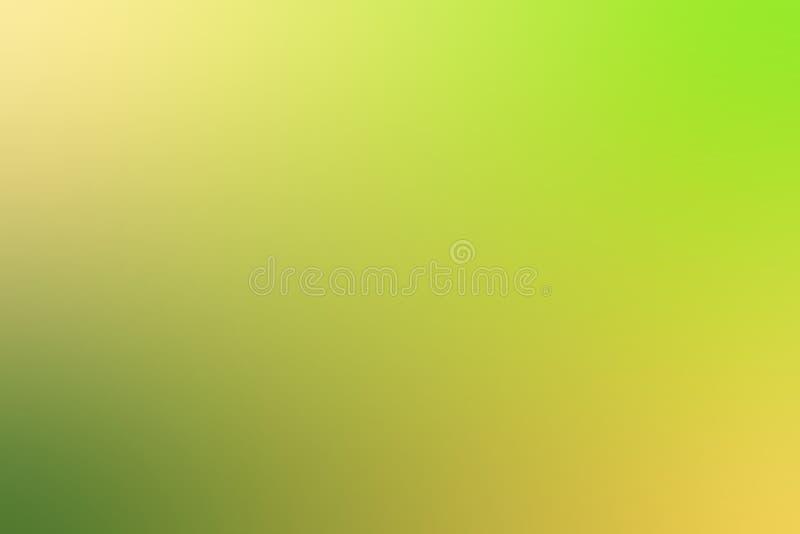 被弄脏的抽象背景 软绵绵地黄色和绿色背景 皇族释放例证