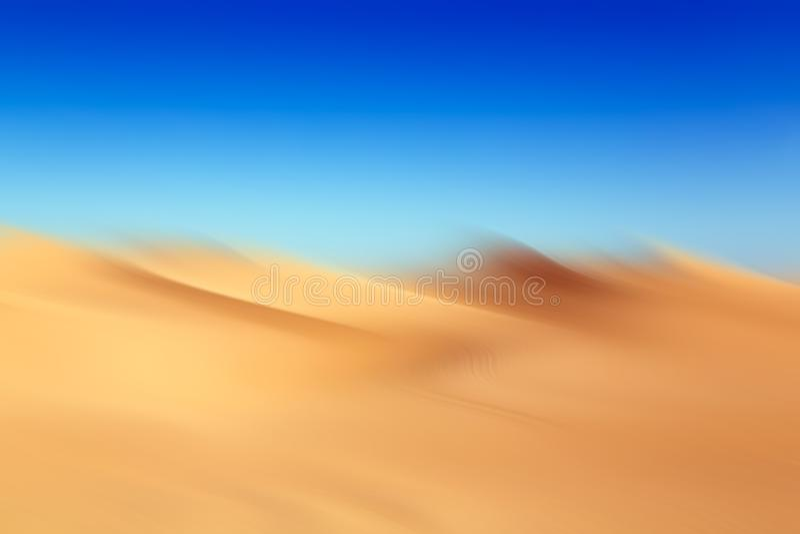 被弄脏的沙漠的抽象图片 免版税库存照片