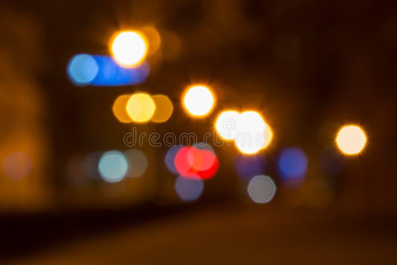 被弄脏的光抽象背景与bokeh作用的 库存照片