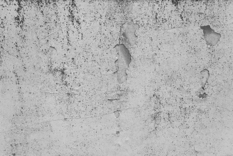 被弄脏的灰色混凝土墙纹理 库存图片