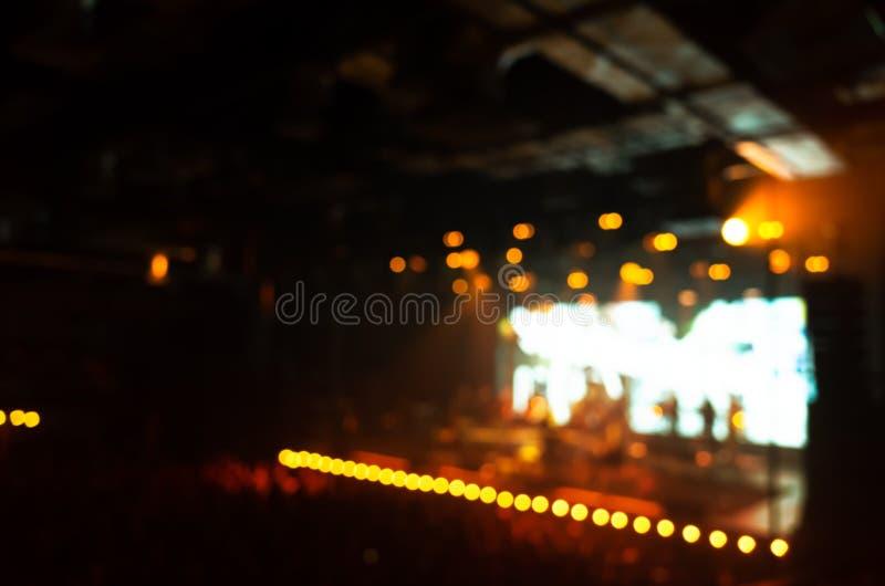 被弄脏的照片背景,生活音乐音乐会 免版税库存照片