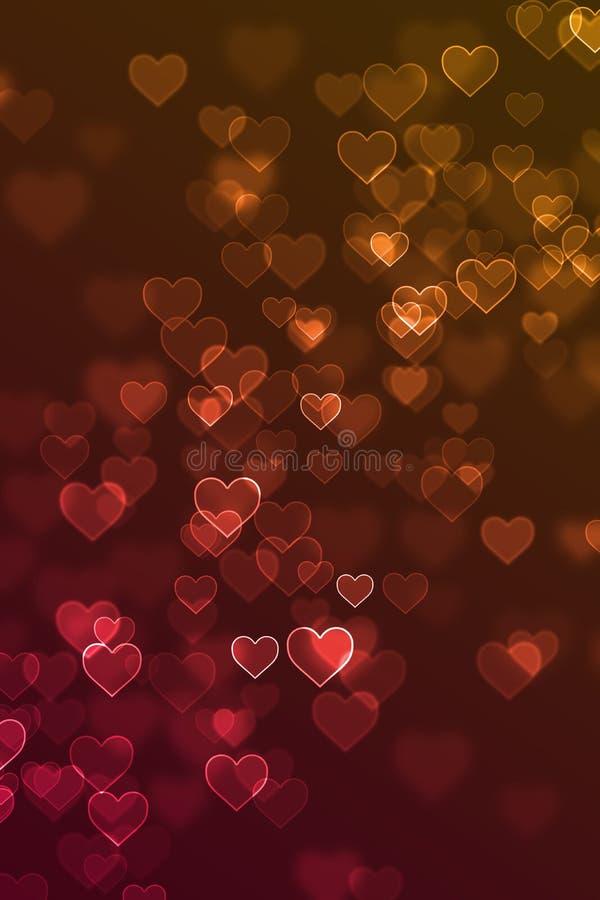 被弄脏的爱心脏标志defocused背景 免版税图库摄影