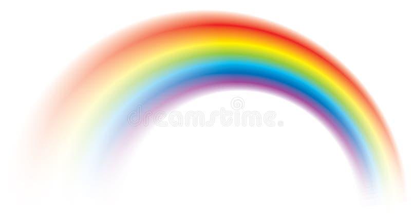 被弄脏的生动五颜六色彩虹发光 库存例证