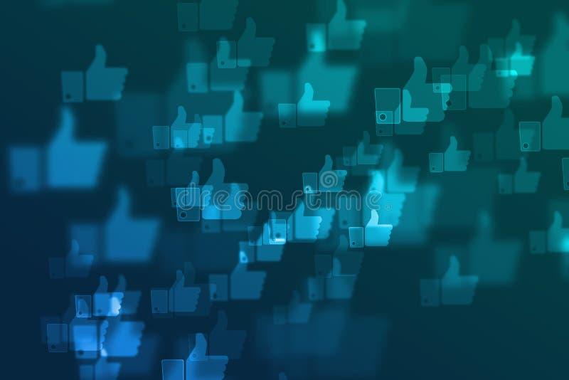 被弄脏的社会网络defocused背景 免版税库存图片