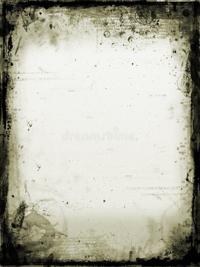 被弄脏的老纸张 库存例证