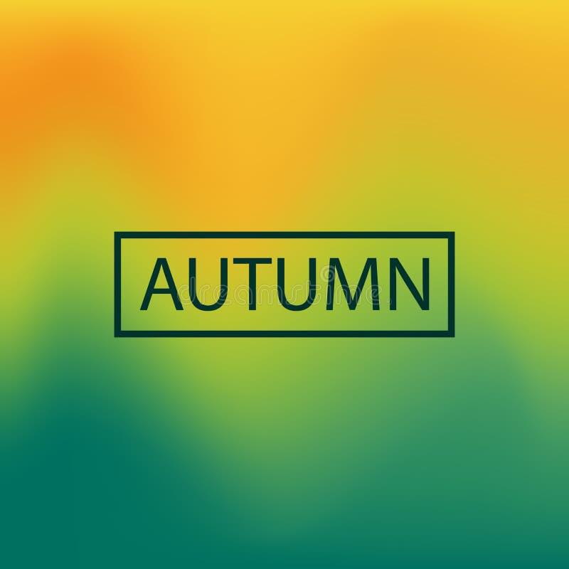 被弄脏的背景,传染媒介例证,秋天 向量例证