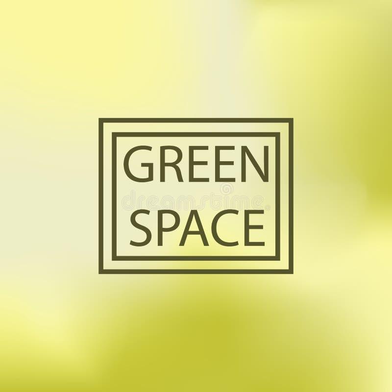被弄脏的背景,传染媒介例证,绿色空间 库存例证