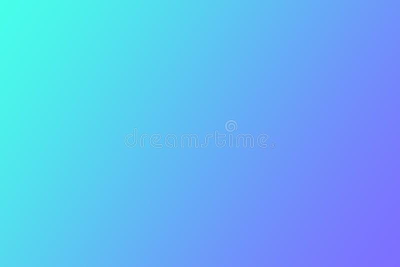 被弄脏的蓝色明亮的梯度,蓝色轻的梯度紫色背景,紫罗兰色紫色梯度柔光墙纸 库存例证
