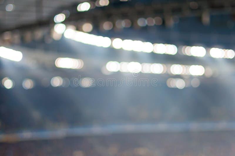 被弄脏的足球场或ather体育比赛场所在 库存照片