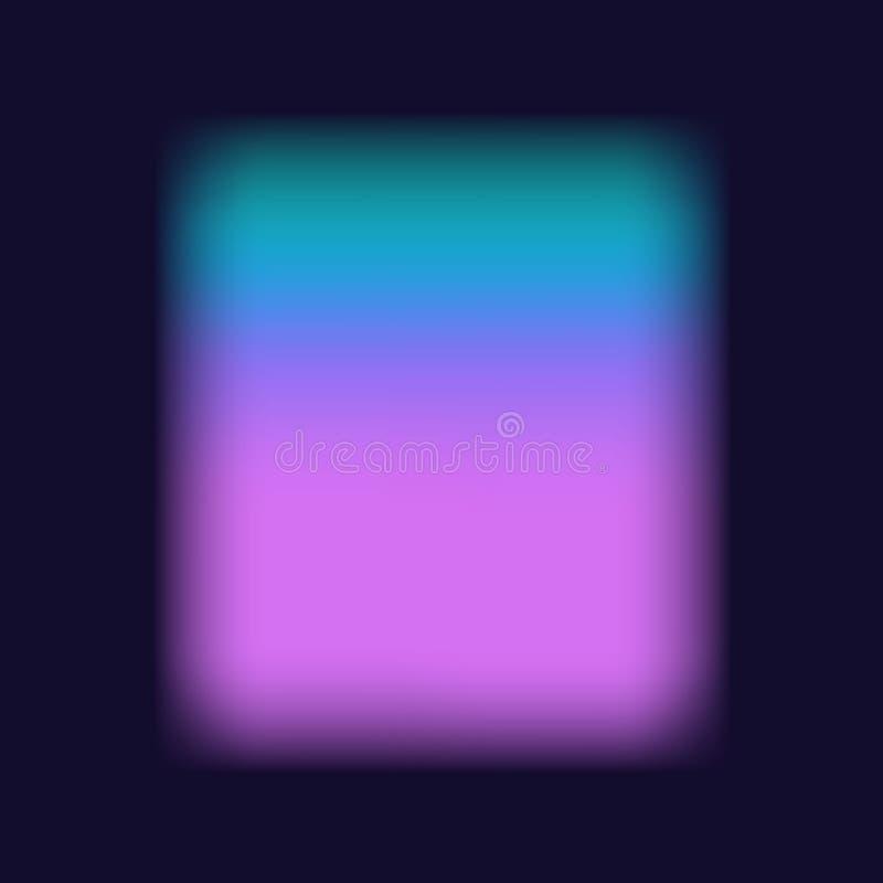 被弄脏的软的充满活力的桃红色紫色tuquoise色板显示光滑的梯度流程纹理 皇族释放例证