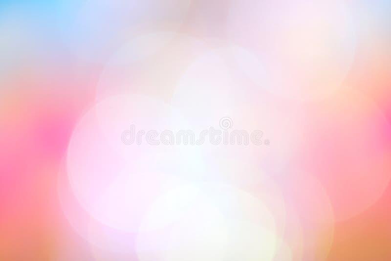 被弄脏的软的桃红色蓝色梯度五颜六色的轻的树荫bokeh背景,抽象淡色软的桃红色和蓝色颜色背景 库存例证