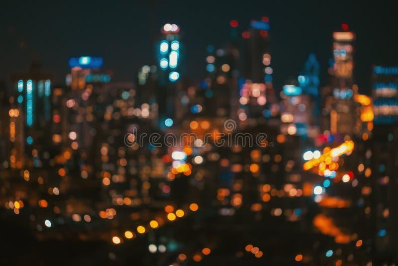 被弄脏的bokeh芝加哥摘要都市风景 免版税库存照片