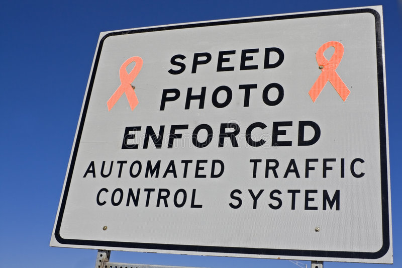 被强制执行的照片速度 库存图片