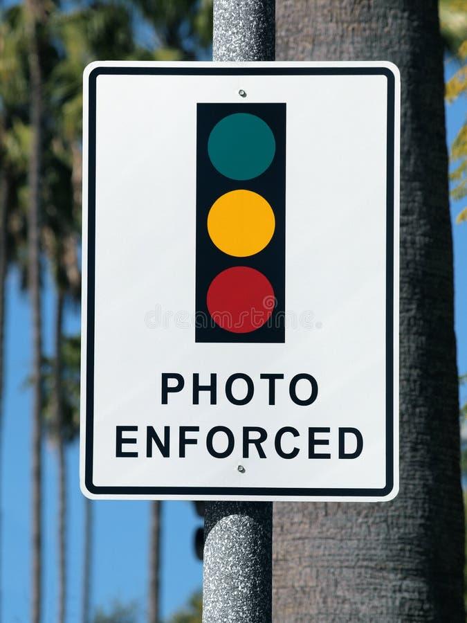 被强制执行的轻的照片符号业务量 库存照片