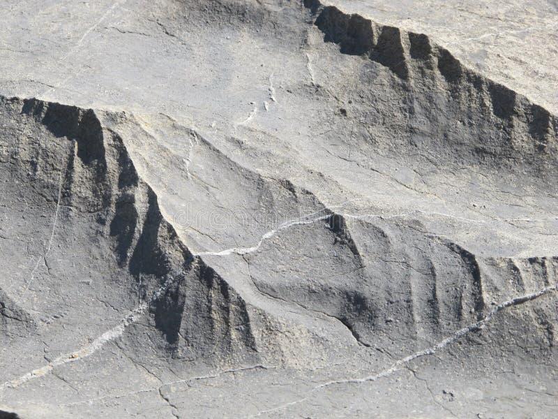 被形成的冰川岩石 免版税库存照片