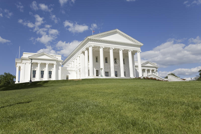 2007被恢复的弗吉尼亚状态国会大厦的鸟瞰图 免版税库存照片