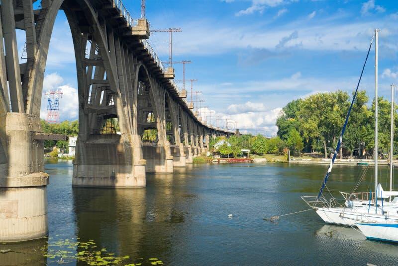被成拱形的桥梁横向铁路 免版税库存图片