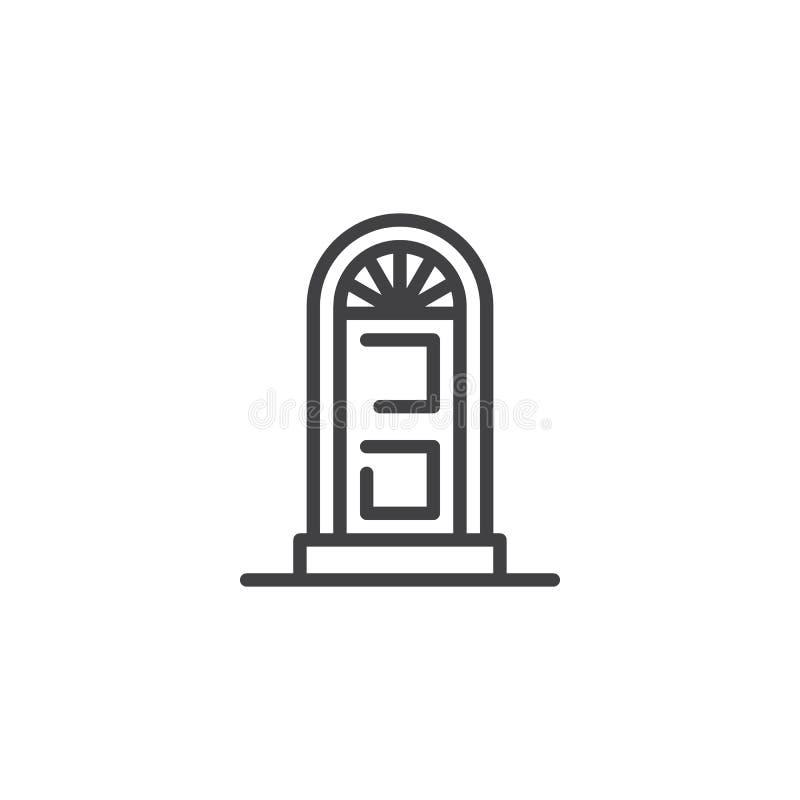 被成拱形的门概述象 库存例证