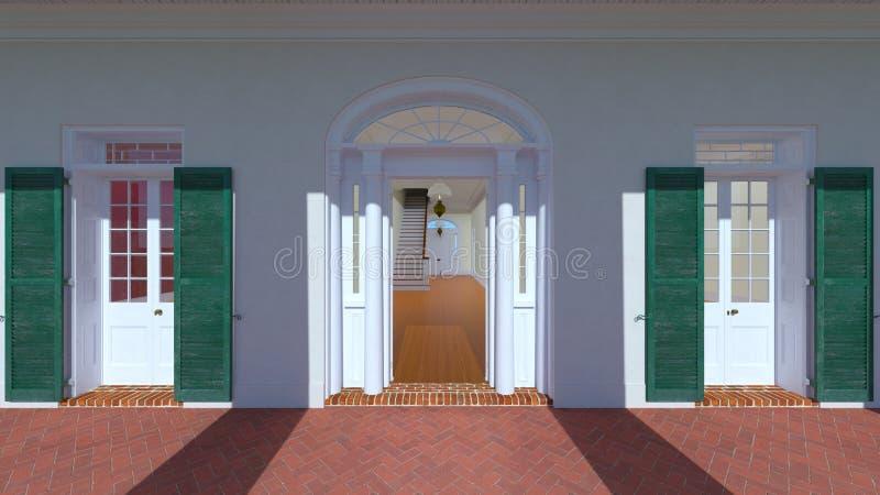 被成拱形的门道入口 皇族释放例证