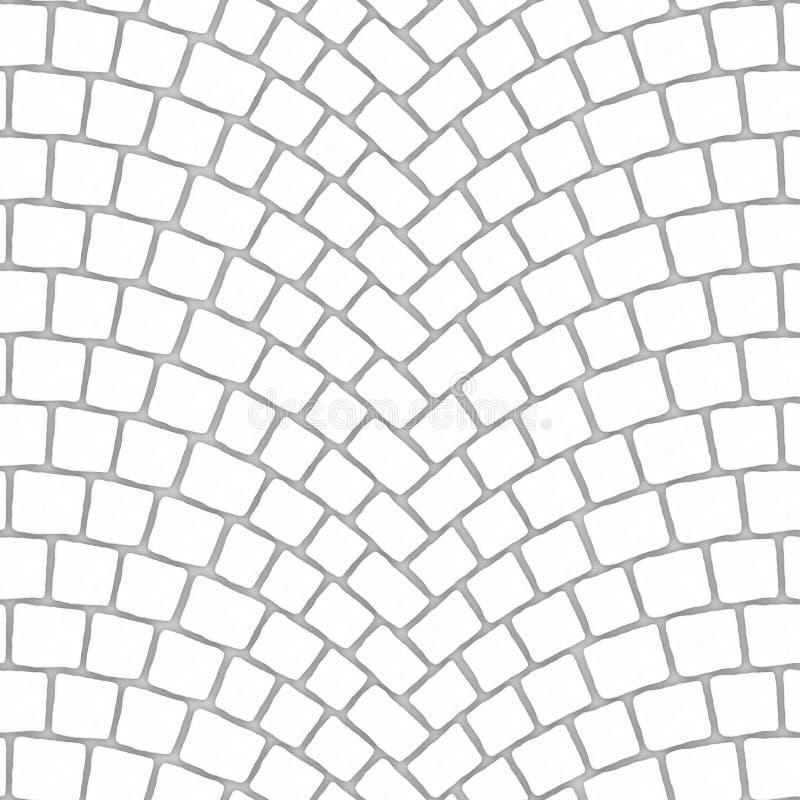 被成拱形的鹅卵石路面纹理000 -四周地图 库存例证