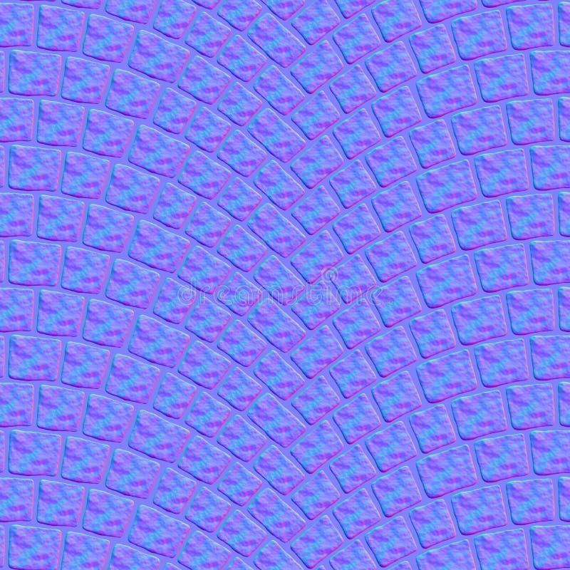 被成拱形的鹅卵石路面纹理000 -正常地图 库存例证