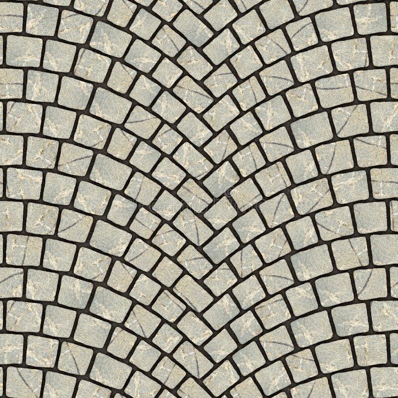 被成拱形的鹅卵石路面纹理020 向量例证
