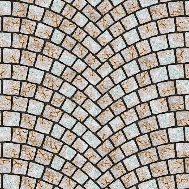 被成拱形的鹅卵石路面纹理065 皇族释放例证