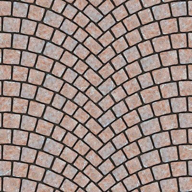 被成拱形的鹅卵石路面纹理066 库存例证