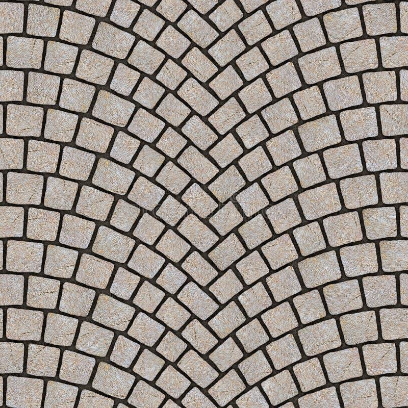 被成拱形的鹅卵石路面纹理064 向量例证