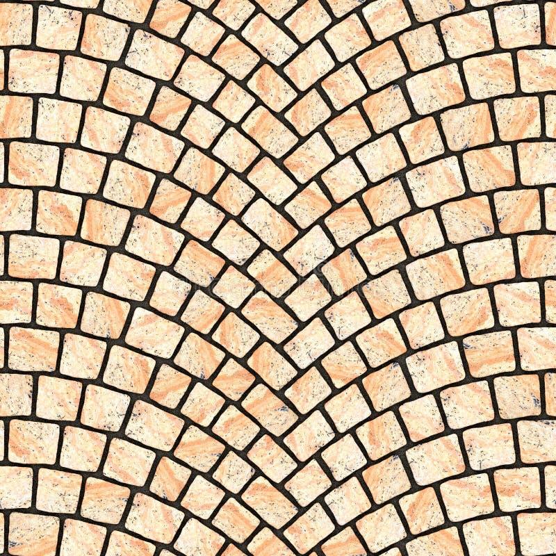 被成拱形的鹅卵石路面纹理067 向量例证